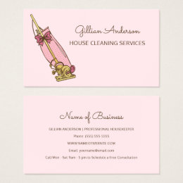 House Cleaning Business Cards Templates Zazzle