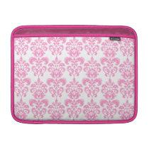 Girly Pink Vintage Damask Pattern 2 MacBook Sleeve