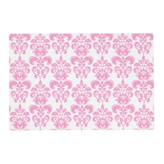 Girly Pink Vintage Damask Pattern 2 Placemat