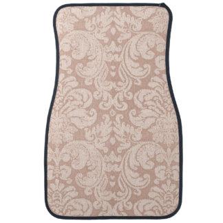 Girly Pink Vintage Damask Floor Mat