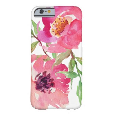 dancingpelican Girly Pink Watercolor Floral Pattern Barely There iPhone 6 Case