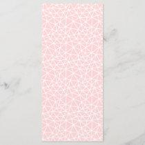 Girly Pink White Geometric Stripes Pattern