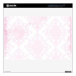 Girly Pink White Lace Vintage Damask Pattern Skin For MacBook