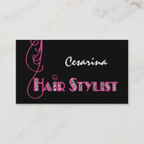Girly Pink Zebra Hair Stylist Appointment Reminder