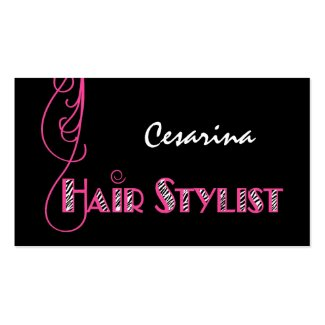 Girly business cards october 2014 girly pink zebra hair stylist appointment reminder business card reheart Image collections