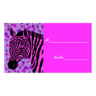 Girly Pink Zebra Sweet 16 Table Setting Place Card Business Card