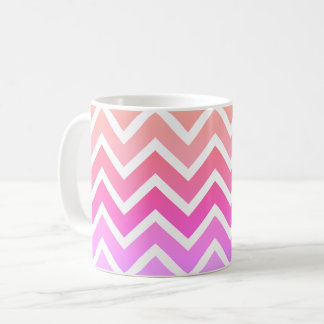 Girly Pinks & White Chevron Custom Coffee Tea Mug