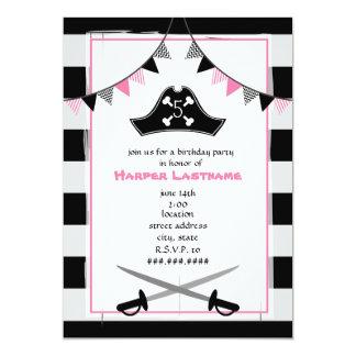 Girly Pirate Birthday Party Invitation