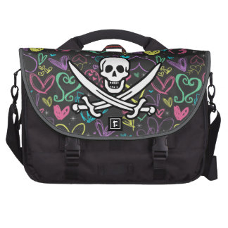 Girly Pirate; Chalk Hearts, Colorful Commuter Bag