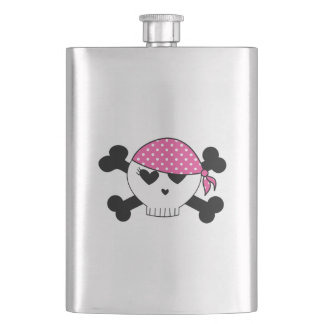 Girly Pirate Skull Flask