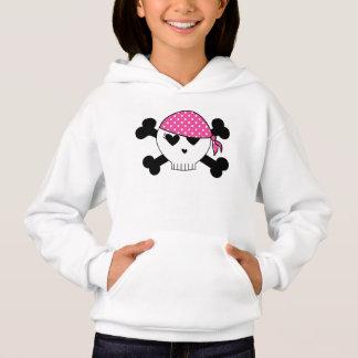 Girly Pirate Skull Hoodie