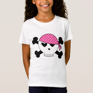 Girly Pirate Skull T-Shirt