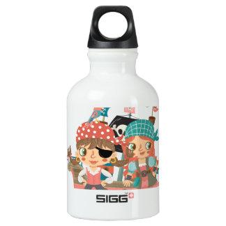 Girly Pirates Aluminum Water Bottle