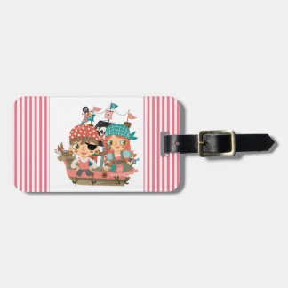 Girly Pirates Luggage Tag