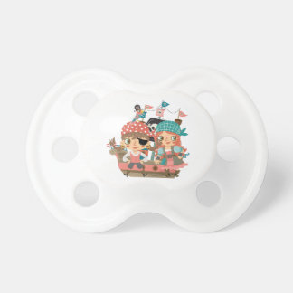 Girly Pirates Baby Pacifier