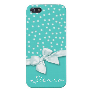 Girly Polka Dots Personalized iPhone SE/5/5s Cover