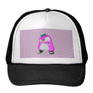 Girly Polka Dots Pink Hip Hop Fashion Penguin Trucker Hat