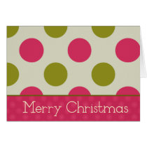 christmas, xmas, december, winter, celebration, dots, snowflakes, joy, girly, modern, chic, Card with custom graphic design