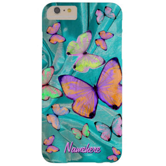 Girly Pretty Butterfly! BFF! Daughter! Add Name! Barely There iPhone 6 Plus Case