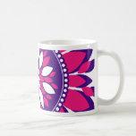 Girly Pretty Pink and Purple Flower Art Gifts Mugs