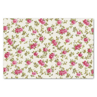 """Girly Pretty Pink Floral Print Pattern 10"""" X 15"""" Tissue Paper"""