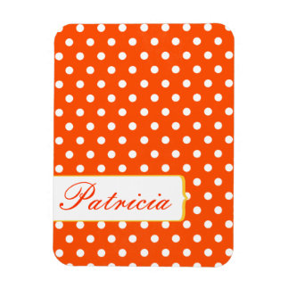 Girly Pretty Red and White Polkadots Vinyl Magnets