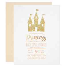 Girly Princess Birthday | Themed Party Card at Zazzle