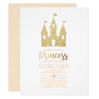 Girly Princess Birthday | Themed Party Card
