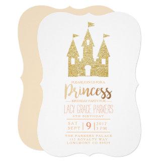 Girly Princess Birthday   Themed Party Card