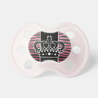 Girly princess pink and black zebra print BooginHead pacifier