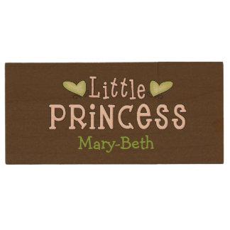 Girly Princess Wooden USB Drive