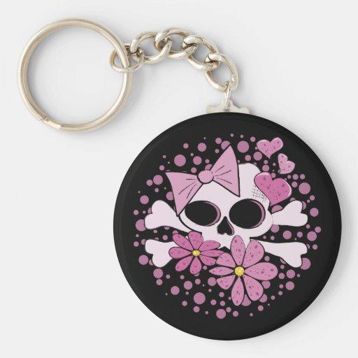 Girly Punk Skull Key Chains