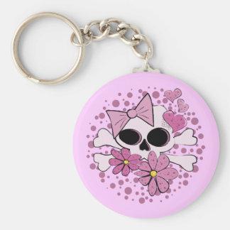 Girly Punk Skull Key Chain