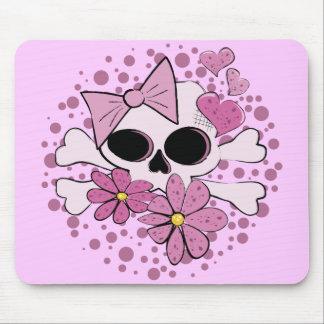 Girly Punk Skull Mouse Pad