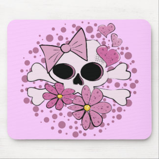 Girly Punk Skull Mouse Pad