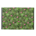 Girly Punk Skulls on Flower Camo background iPad Air Cover
