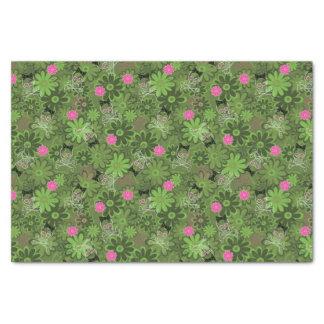 Girly Punk Skulls on Flower Camo background Tissue Paper