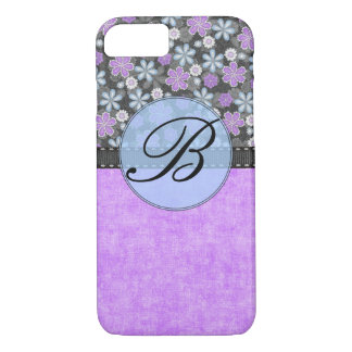 Girly Purple and Black Barely There iPhone 7 Case