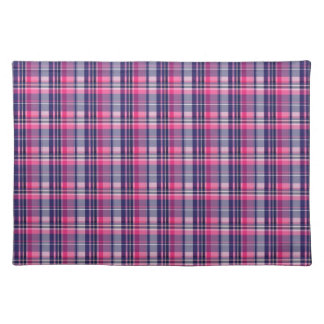 Girly Purple and Pink Plaid Pattern Gifts for Her Placemat