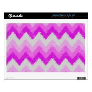 Girly Purple and White Bohemian Chevron Pattern Medium Netbook Skins