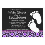 Girly Purple Circles & Dots Personalized Invitation