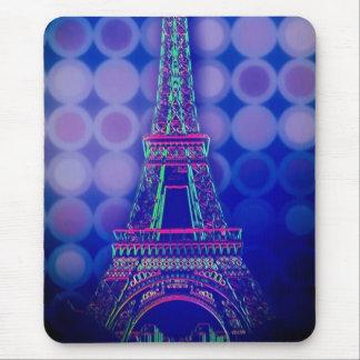girly purple circles pattern paris eiffel tower mouse pad