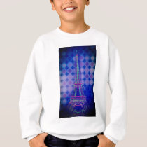girly purple circles pattern paris eiffel tower sweatshirt