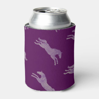 Girly Purple Classic Equestrian Horses Can Cooler