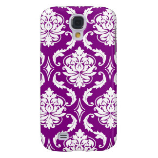 Girly Purple Damask Pattern Galaxy S4 Cover
