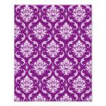 Girly Purple Damask Pattern Photograph