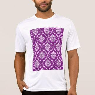 Girly Purple Damask Pattern Shirt