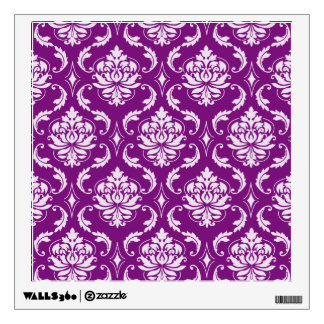 Girly Purple Damask Pattern Wall Graphic
