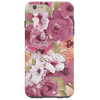 Girly Purple Floral Tough iPhone 6 Plus Case