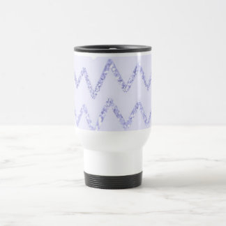Girly Purple Glitter Chevron Pattern Travel Mug